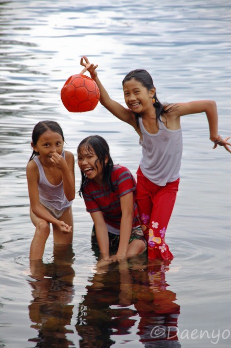 Kids at Lake Toba, Sumatra