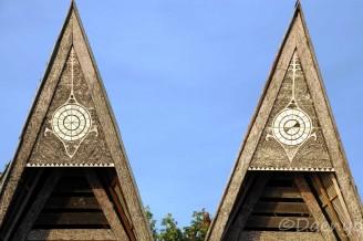 Bontoc Houses, Sumatra
