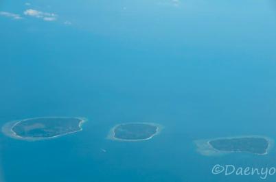 Gili Island from Plane