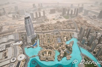 View from top of Burj Khalifa, Dubai