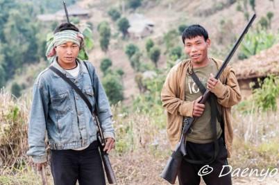 Hunters near Burmese Border, Nagaland