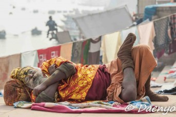 Sleeping in Varanasi