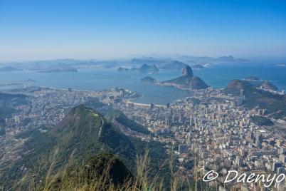 View from Cristo Redentor, Brasil