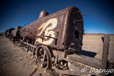 Train cemetary in Uyuni, Bolivia