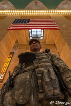 Sldier at Grand Central Station, New York City