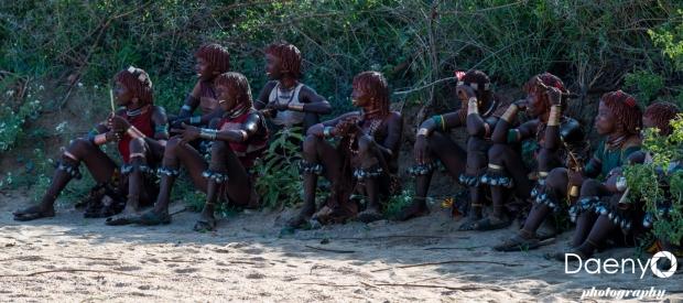 Omo Valley, Bulljumping Ceremony at Hamer tribe village