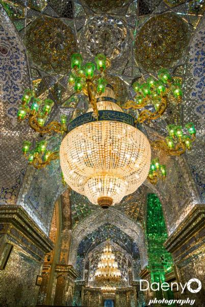 inside Shah-e-Cheragh Shrine, Shiraz