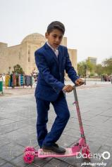 posing scooter boy, Bukhara