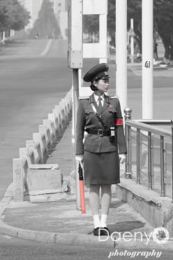 traffic police, Pyongyang