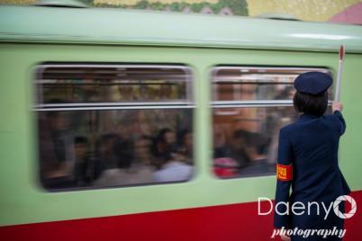 subway in Pyongyang