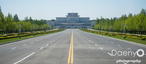 important looking complex, Pyongyang
