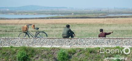somewhere on the way from Sinuiju toPyongyang