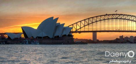 Sunset at the Sydney Opera House