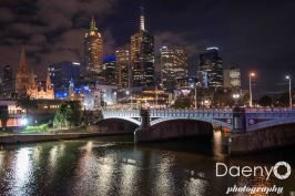 Melbourne at night